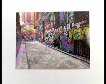 Melbourne Australia Graffiti Photograph Postcard Street Art