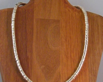 Necklace with silver bands