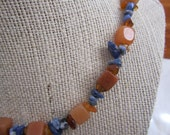 Chalcedony Cube Necklace