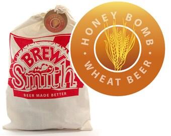 Honey Bomb Wheat Craft Beer Recipe Refill Kit - BrewSmith