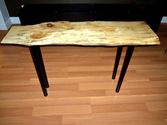 Box Console Table ~ Live edge spalted box elder console sofa table
