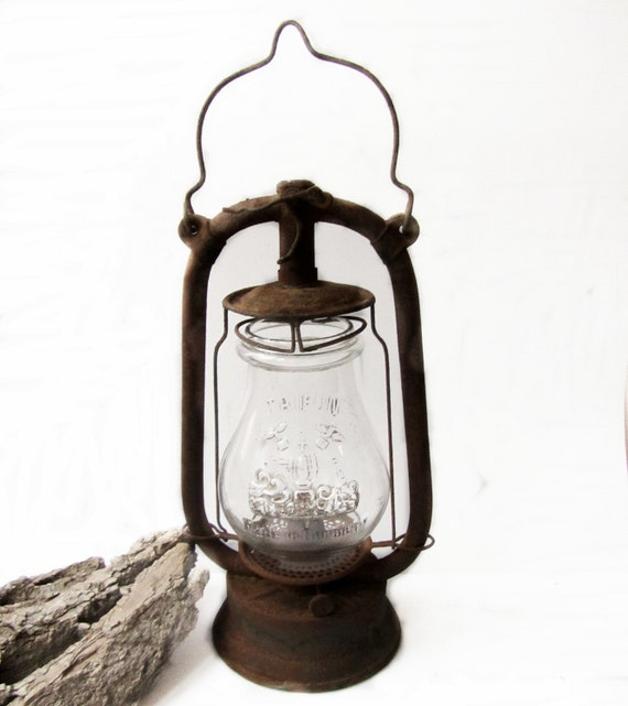 Antique lantern Old German lantern Vintage lantern oil