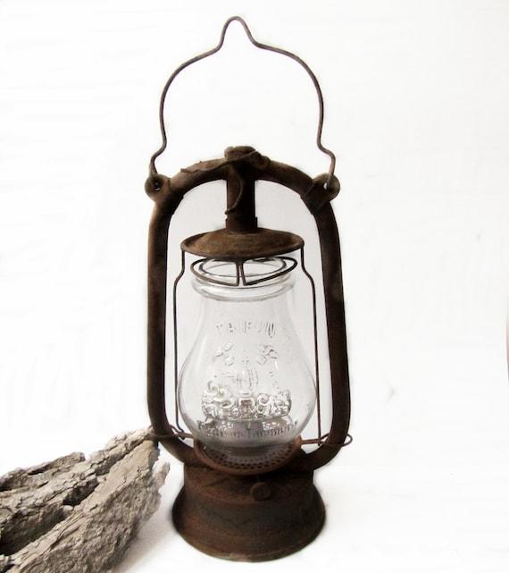 Antique lantern Old German lantern Vintage lantern oil