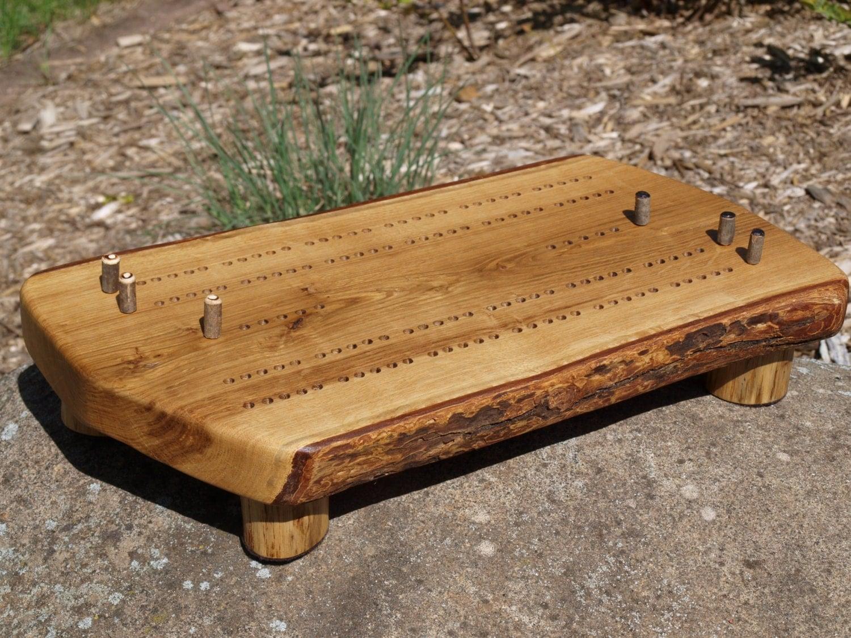Cribbage Board Handmade Bur Oak Cribbage Board Rustic