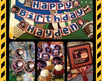 "Wicked ""Wreck-It-Ralph, Fix-It-Felix"" Birthday Party Set - Decorations - Boys - Movie - Theme - Decor - Gamers"