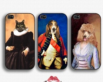 Custom Renaissance Pet Portraits - iPhone 4/4S 5/5S/5C/6/6+ and now iPhone 7 cases!! And Samsung Galaxy S3/S4/S5/S6/S7