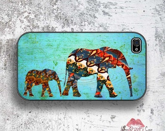 Mama Elephant/Baby Elephant Blue design - iPhone 4/4S 5/5S/5C/6/6+ and now iPhone 7 cases!! And Samsung Galaxy S3/S4/S5/S6/S7