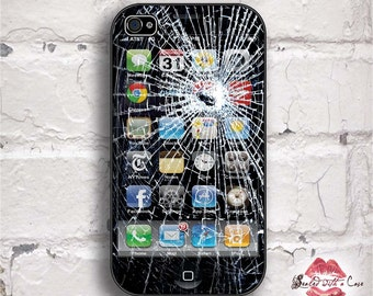 Fake Broken Glass iPhone Gag - iPhone 4/4S 5/5S/5C/6/6+ and now iPhone 7 cases!! And Samsung Galaxy S3/S4/S5/S6/S7