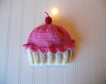 My Little Cupcake Hat with a Cherry on Top