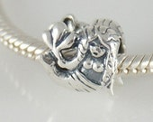 New Authentic SOLID 925 Sterling Silver MERMAID aquarius Bead, Big Hole, fit all popular brands of European Charm Bracelet, Zodiac Sea A17