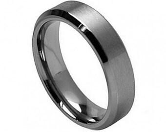 "Titanium Wedding Band, "" FREE ENGRAVING "" , MMTi260  Titanium engagement ring"