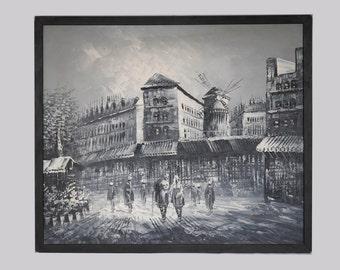 Original Oil Painting Moulin-Rouge