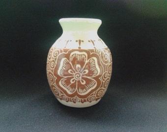 Vase with Henna design