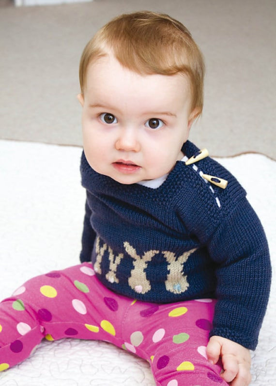 Pdf Knitting Pattern For Hare Belle Baby Sweater From