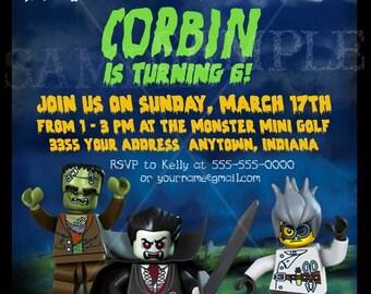 Monsters Printable Birthday Invitation