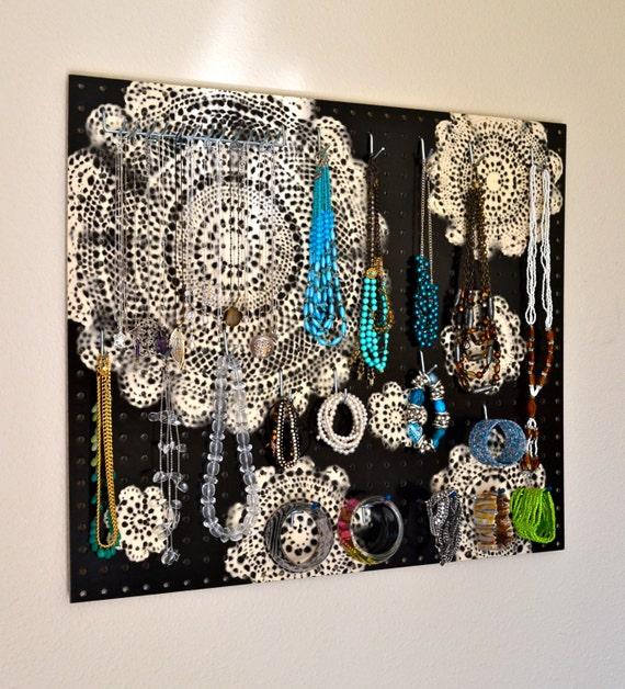 Jewelry Organizer Wall Jewelry Holder And Organizers On: Items Similar To Jewelry Organizer Wall Display, Jewelry