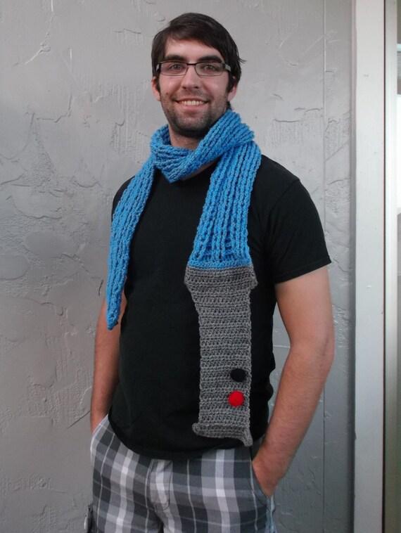 Star Wars Nerdy Lightsaber Crocheted Scarf