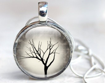 Tree Picture Necklace  - Tree Necklace - Picture Tree Necklace