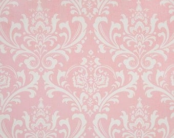 Pink Damask Fabric by the YARD Home Decor Upholstery Curtain Pillow Runner Slipcover Drapes Premier Prints Ozborne Bella Pink SHIPsFAST