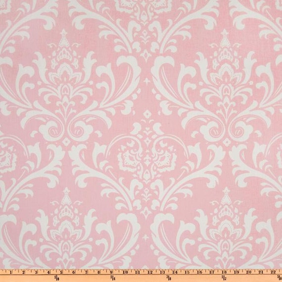 pink damask fabric by the yard home decor premier prints ozborne bella pink twill yardage