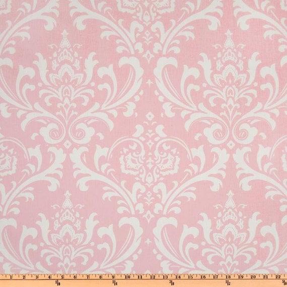 pink damask fabric by the yard home decor premier prints ozborne bella pink twill yardage