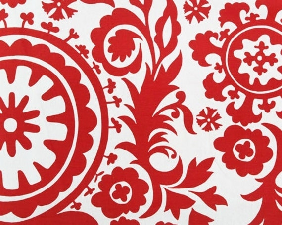 red suzani fabric by the yard premier prints home decor. Black Bedroom Furniture Sets. Home Design Ideas
