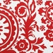 Red Suzani Fabric by the Yard Premier Prints Home Decor lipstick on white floral upholstery yardage - 1 yard or more - SHIPS FAST