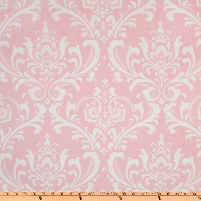 Pink Damask Fabric by the YARD Home Decor Upholstery Curtain