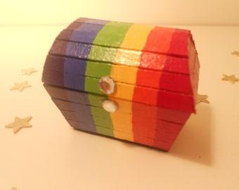 Miniature Treasure Chest Trinket Box - Pride