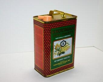 Vintage Kikkoman Soy Sauce Can-gallon size