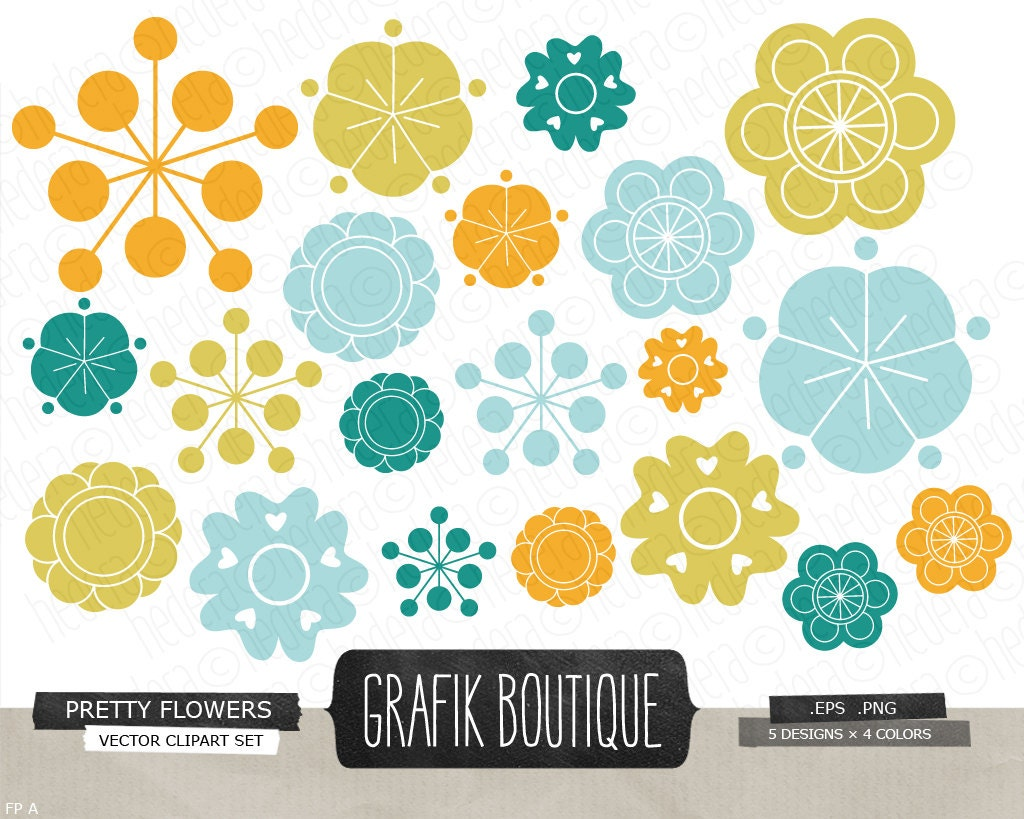 Flowers vector clip art flower blossom wedding party zoom dhlflorist Image collections