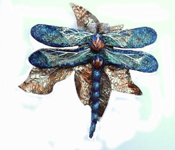 Items Similar To Metal Wall Art Dragonfly Sculpture Custom