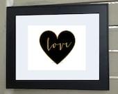 Gold Love Print