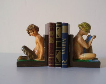 12th Scale dolls house  book ends - Fawn and Girl
