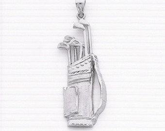 Sterling Silver Golf bag w/Clubs Charm.