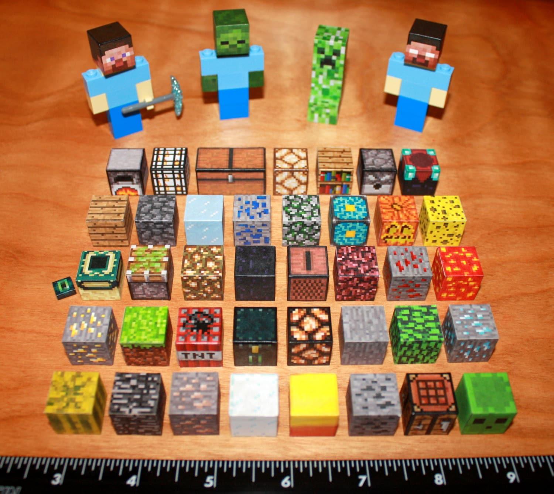 Custom Minecraft Lego Steve Creeper Diamond Pickaxe Zombie