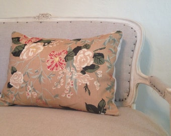 Vintage Cabbage Rose Pillow Cover