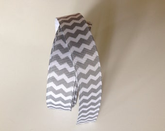 Gray Chevron Ribbon 5/8 inch x 15 ft