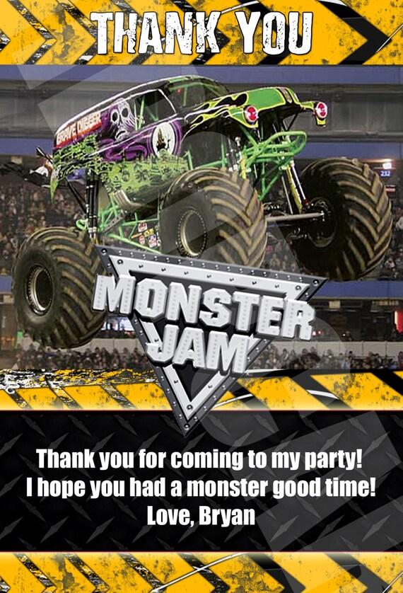 Monster Jam Monster Trucks Birthday Party by DigiPopCards on Etsy