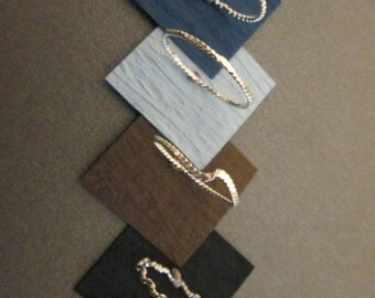 Sterling Silver Stacking Rings, Beaded & Twisted, 7.00 Each Ring