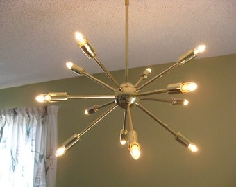 Atomic 12 arm Sputnik Ceiling Starburst Light