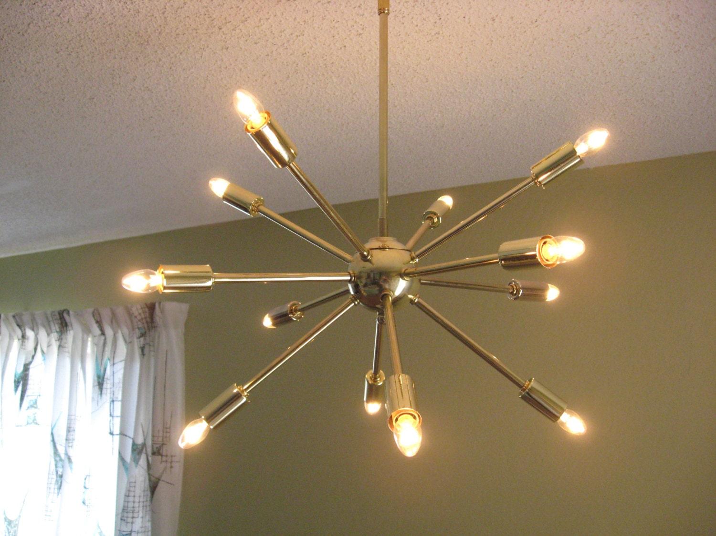 atomic lighting. interesting lighting starburst 12 light chandelier antique brass intended atomic lighting r