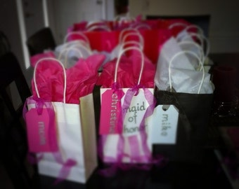 Custom bridal party gift bags