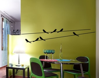 Birds Wall Decal Cute Bird Vinyl Sticker Home Arts Animal Wall Decals Decor WT054