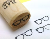 Geeky taped Nerd Glasses Rubber Stamp, nerdy planner stamp, peg stamp
