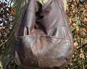 Slouchy Hobo,Leather Bag,eco leather,Recycled leather Hobo,Large Leather Bag,Repurposed Leather Bag,Recycled Leather Handbag,