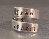 Free Spirit  Peace Twist Aluminum Ring