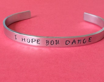 I Hope You Dance, Music Inspired, Cuff Bracelet, Fun Jewelry