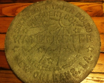 New Orleans sewage and water board water meter cover replica