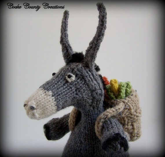 Free Dk Baby Knitting Patterns : Hand Knit Donkey Donkey Decor Knitted by CockeCountyCreations
